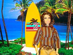 surftriphawaii (rollerskate13) Tags: beach barbie surfing surfboard tropicalisland mattel surftrip katniss hungergames barbiesurfboard