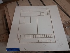 CNC Router Floor Plan (theycallmebrant) Tags: wood scale architecture model milwaukee cncrouter makerspace