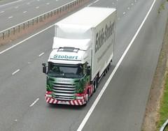 H6857 - PO14 VFL (Cammies Transport Photography) Tags: truck lorry caro stephanie eddie flyover scania esl m74 lockerbie stobart r440 po14vfl h6857