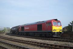 60044 - 6D43 (MitchellTurnbull) Tags: park uk red diesel db junction class gateshead september lane oil locomotive lindsey 12th jarrow freight 60 tanks 2014 schenker 60044 dbschenker 6d43