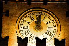 ok it's time! (Anima Notturna) Tags: clock night major nikon place bologna piazza maggiore orologio d80