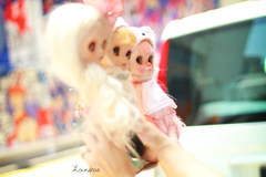 dolls made of candyfloss
