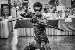 Nightwing Full BW [explore 09-21-14] (misterperturbed) Tags: baltimorecomiccon baltimoreconventioncenter nightwing baltimorecomiccon2014 bcc2014 baltimore