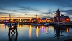 Cardiff Bay (technodean2000) Tags: city uk red building night bay pier head capital lightroom cardiffsouthwalesuknikond5200lightroom