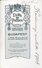 Elbl & Pietsch, 1908 (elinor04 thanks for 36,000,000+ views!) Tags: vintage photo budapest 1908 1900s pietsch elbl elbléspietsch eblpietsch