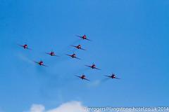 2014-08-23_14-04-27-7D-8805-ewf (mark@langstone) Tags: unitedkingdom airshow devon tornado beech redarrows seaking airdisplay dawlish battleofbritainmemorialflight