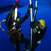 Sailors conduct pre-dive checks during diver qualification training at Naval Station Guantanamo Bay, Cuba.