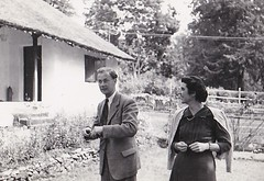 Tom and Angela  in Ethiopia 1953 (Bury Gardener) Tags: bw blackandwhite oldies old 1950s ethiopia africa snaps 1953