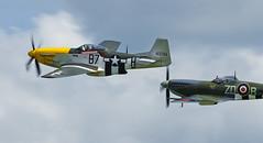 Supermarine Spitfire LFIXb and North American P-51D Mustang - 11 (NickJ 1972) Tags: anniversary aviation airshow duxford spitfire mustang dday ix p51 2014 supermarine northamerican mylcraine lf9 lfix ferociousfrankie gbtcd 413704 b7h