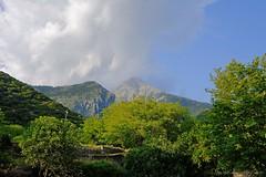 kalavrita-planitero (George Spanoudakiss) Tags: sky sun mountain tree green nature clouds landscape outdoors greece cave