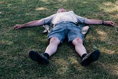 Sleeping man (The-Tall-Dude) Tags: street old sun lumix sleep sandals tired gx1 streettogs