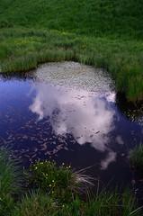 faccia di nuvola (robra shotography []O]) Tags: cloud nuvola reflexion riflesso castelluccio castellucciodinorcia parconazionaledeimontisibillini piangrande 1685mm d7000 fossodeimergani