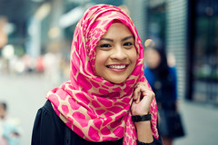 Salleh (Jon Siegel) Tags: portrait woman art girl beautiful 50mm nikon singapore f14 hijab sigma orchard singaporean d700 sigma50mmf14dghsm