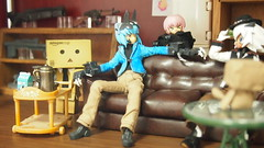 Leather sofa (naitma) Tags: shinki 武装神姫 danboard danboo