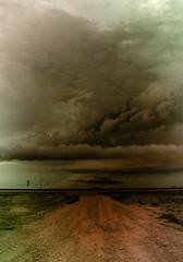 Summertimes (Chains of Pace) Tags: road storm oklahoma clouds rural unitedstates prairie panhandle guymon cloudsstormssunsetssunrises