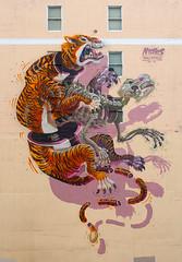 Nychos (funkandjazz) Tags: sanfrancisco california streetart tiger nychos