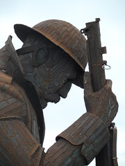Eleven 'O' One face (Nekoglyph) Tags: sculpture statue giant soldier memorial steel military wwi rifle helmet rusty tommy historic figure publicart remembrance seafront armistice seaham commemoration countydurham elevenoone greatcoat raylonsdale