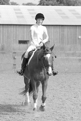 My Wife on Oscar (chrism00se) Tags: show school horses people blackandwhite bw horse woman animals lady female fun person blackwhite jumping riding relationship wife potrait rider equestrian regal saddle equine horseriding showjumping hoofs chesnut horserider reins tidworth ridingschool chestnuthorse riens