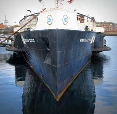 Old boat at Hartlepool Docks (Tony Worrall Foto) Tags: saved england reflection wet water docks cafe ship place steel north visit location east coastal sail hull float northeast steamer relic wingfield hartlepool 2014tonyworrall