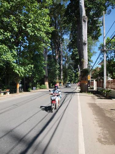 Road near condos Chiang Mai
