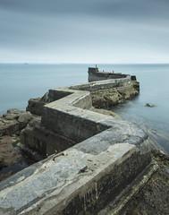 The Jagged Pier (Semi-detached) Tags: sea saint st neck landscape coast scotland fishing long exposure fife perspective scottish villages east forth firth monans