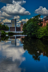 DSC_8645 (Stuart Lilley Photography) Tags: city reflection building water buildings reflections river nikon derwent derbyshire filter rivers filters derby lightroom d3200 nd16