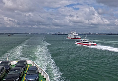 Red Funnel Ferries (fujibera) Tags: water ferry boats infocus highquality