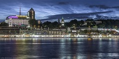 Hamburg by Night (die mobilen fotografen) Tags: city light skyline night hotel see wasser nacht spiegel hamburg himmel stadt architektur hafen landungsbrcken spiegelung schiff elbe lichter nachtaufnahme hafencity langzeitbelichtung