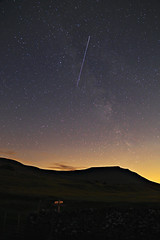 Perseid over Ingleborough (diamond-skies) Tags: way yorkshire astrophotography astronomy milky meteor dales ingleton ingleborough perseid