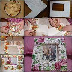 Mosaic Photo Frame From   Egg Shell (Wonderful DIY) Tags: diy crafts recycling photoframe eggshell