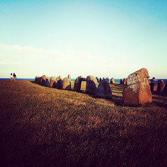 . (tsienni) Tags: sunset stone landscape skne sweden scandinavia alesstenar