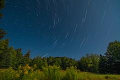 Star Trails in Maine (broadleafmedia) Tags: moon stars nikon super startrails eastbluehillmaine nikkor1424