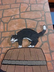 Cat Mural St Helier Commercial Buildings (Bridgemarker Tim) Tags: streetart felines allcats sthelierjerseydatedstonesjerseypostboxeschannelislandsjersey