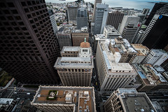 ROOFTOP (sbdunkscarl) Tags: sf california street city blue friends red people food orange signs building art chicken rooftop architecture night america marriott buildings out concrete photography lights hotel oakland nikon shoes san francisco waiting long exposure downtown traffic angle very air 14 elevator fine bank wideangle mikey here nike fisheye where embarcadero batman wilson 28 105 gotham 18 levis mid 7eleven height supreme rolo d800 jordans figuring slurpie 1424 maxes sbdunkscarl