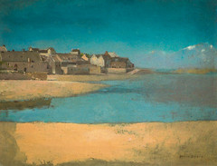 Odilon Redon - Village by the Sea in Brittany, 1880 at National Art Gallery Washington DC (mbell1975) Tags: from ca sea art by museum painting french for washingtondc smithsonian dc washington districtofcolumbia brittany san francisco gallery museu village unitedstates fine arts honor muse musee national impressionism museo museums intimate redon impression impressionist muzeum legion nga 1880 viewed finearts beaux beauxarts mze gallerie odilon also