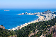 Copacabana, Rio de Janeiro, Brazil (Maria_Globetrotter) Tags: world plaza city blue winter sea summer brazil vacation holiday mountains heritage praia beach beautiful rio brasil strand america canon wow de relax point landscape coast photo site day janeiro view good south famous hill bonito over picture playa pic brasilien aerial atlantic sugar unesco clear copacabana lindo da loaf 1855 mundial bela incredible plage  americas cultural attraction bairro leme brsil balneario humanidade   patrimnio img9525 3ti mariaglobetrotter