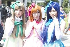 Minimi Kotori&Takasaka Honoka&Sonoda Umi[lovelive] -comic market 86 cosplay- (ryuichi692011) Tags: girls portrait girl person women cosplay   odaiba daiba c86  ariake   bi