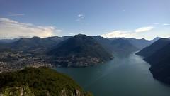 Lugano, Monte Br e Lago di Lugano (RS_1978) Tags: lake mountains landscape see ticino berge landschaft nokialumia930