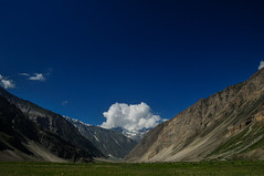 In Between (Ganeshankar) Tags: blue india green nature clouds landscape photography nikon divine kashmir leh himalayas ladakh d300 sonmarg