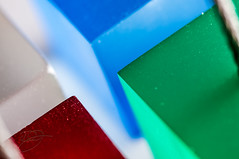 Inverse Square (Photoshoparama - Dan) Tags: lighting macro square plastic blocks cubes rgb acrylics officesupply strobist macromonday memocubes photoshoparama danielejohnson redwhitebluegreen crossroadonecom dej9239