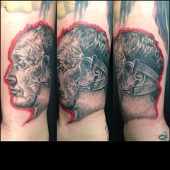 From SAW...fun piece! #saw #pooch_art #alteredstatetattoo #tattoo