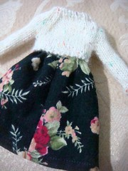 Blythe knitted top floral dress