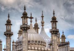 Brighton pavilion roof 01 HD aug 14 (Shaun the grime lover) Tags: roof decorations detail building sussex brighton minaret palace east dome pavilion domes hdr minarets