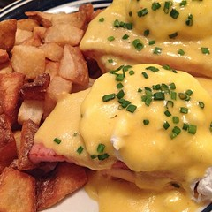 "Local eggs, ham, and challah make this Eggs Benedict at Thistle Pig in South Berwick, ME a favorite Sunday treat. Adding an Evil Twin Joey Pepper to the mix certainly didn't hurt matters.  #localfood #craftbeer • <a style=""font-size:0.8em;"" href=""http://www.flickr.com/photos/54958436@N05/15072901036/"" target=""_blank"">View on Flickr</a>"