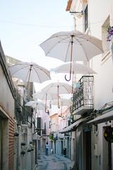 umbrella street (alemjusic) Tags: travel portugal umbrella setubal umbrellastreet