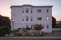 One Light (metroblossom) Tags: cambridge light sunset building window dusk massachusetts residential cambridgeport img3817