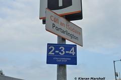 Stop board, Portarlington, 16/9/14 (hurricanemk1c) Tags: irish train rail railway trains railways irishrail 2014 portarlington iarnród éireann iarnródéireann stopboard newstationsign