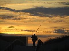 The Fisherman (mariaminhota) Tags: light sunset sky luz portugal fisherman silhouete céu pôrdosol goldenhour pescador silhueta goldenlight naturalpainting luzdourada pinturanatural horadourada praiadesjacinto canonpowershotsx210is rememberthatmomentlevel1 remenberthatmomentlevel2 sjacintobeach infinitexposurel1 infinitexposurel2