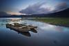 Wooden Boats of Tamblingan Lake (eggysayoga) Tags: longexposure sunset bali lake reflection indonesia landscape boat wooden tokina fullframe fx perahu 116 danau jukung buyan 1116mm tambblingan