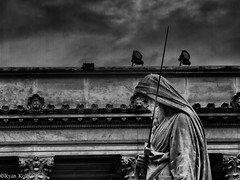 Gloomy Night In Shame (fadecountier11) Tags: people blackandwhite bw rome statue